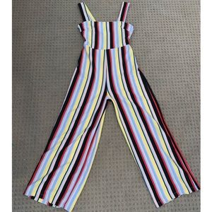 UO Delaney Straight-Neck Striped Jumpsuit